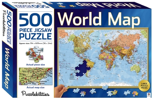 The store world map 500 piece jigsaw toygame the store world map 500 piece jigsaw gumiabroncs Images