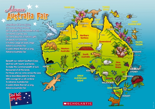 The store map of australia posteranthem teacher resource map of australia posteranthem gumiabroncs Choice Image