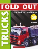 Fold-Out Trucks Poster Sticker Book