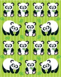 PANDA SHAPE STICKERS