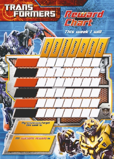 the store - transformers reward chart pack - book