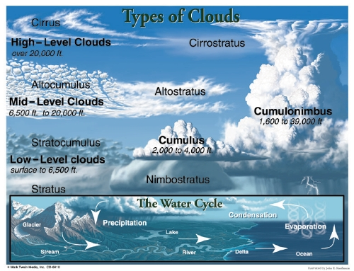The Store - Types Of Clouds Chart - Stationery