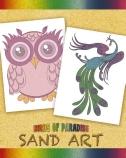 Birds of Paradise Sand Art