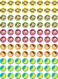 Monkey & Bananas Hot Spots Stickers