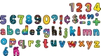 Poppin' Patterns Lowercase Letter Stickers