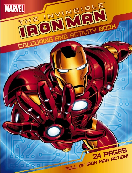 Iron Man Colour and Activity Book - Book