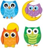 Colourful Owls Temporary Tattoos