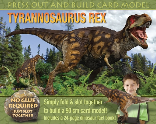 Dinosaurs Mdf Toy Box Childrens Storage Toys Games Books: Press Out And Build Card Model Tyrannosaurus