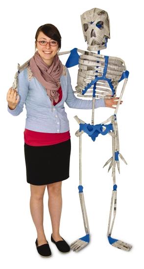 Newspaper Skeleton