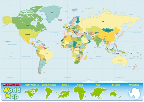 Product a2 world map poster 413 other school essentials a2 world map poster 413 other gumiabroncs Images