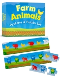 Farm Animals Patterns & Puzzles Set