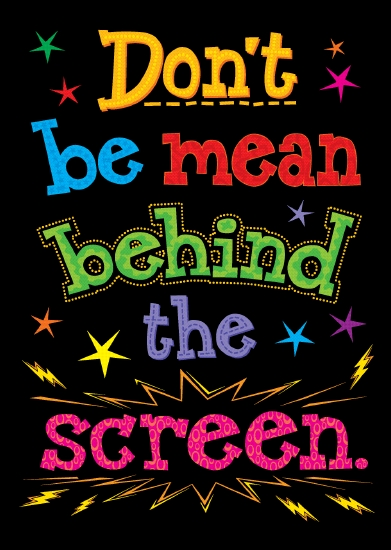 Don't Be Mean Behind the Screen                                                                      - Stationery