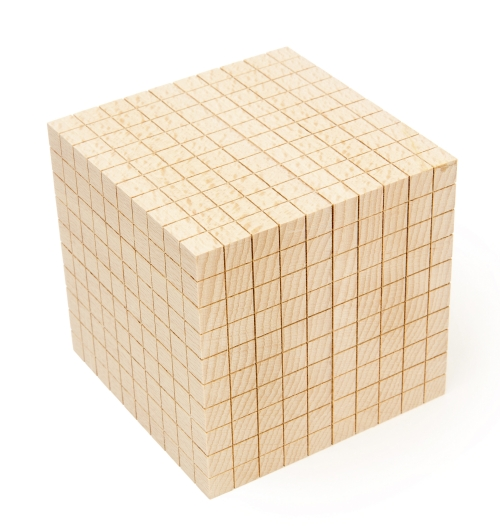 Wooden Base-10 Block