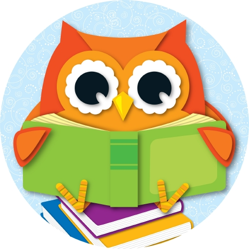 OWL READING TWO SIDED DECORATI
