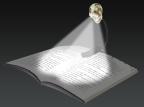 Skull Booklight
