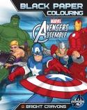 Avengers Assemble Black Paper Colouring