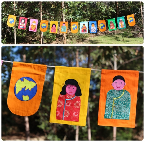 Multicultural Bunting