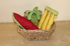 Jute Fruit Trio in Basket
