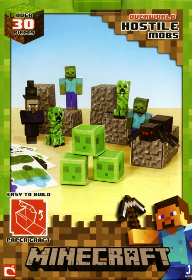 the store - minecraft papercraft kit  hostile mobs  game