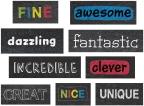 Chalkboard Phrase Stickers