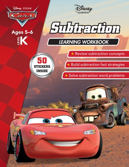 Disney Cars: Subtraction Learning Workbook Level K