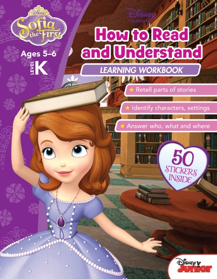 Disney Sofia the First: How to Read and Understand Learning Workbook Level K