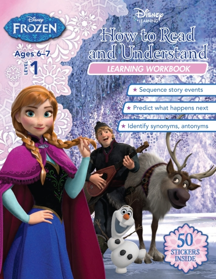 Disney Frozen: How to Read and Understand Learning Workbook Level 1