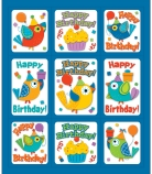 Boho Birthday Stickers