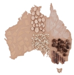 Australia Map Large (Pack of 10)