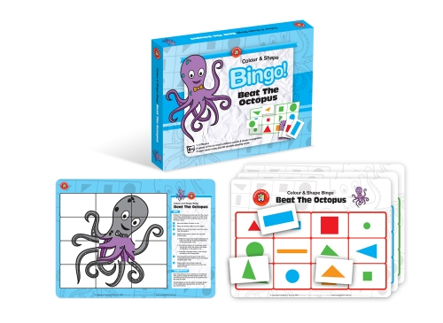 Colour & Shape Bingo! Beat the Octopus
