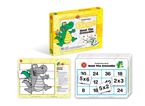 Multiplication Bingo! Beat the Crocodile