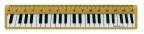 RULER PIANO KEYBOARD