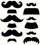 Mustache Medley Cut Outs