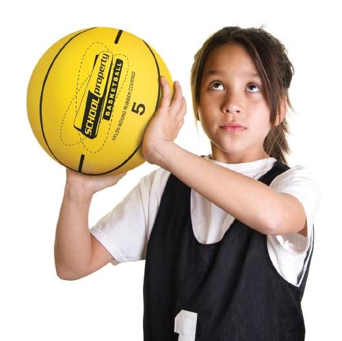 School Property  Basketball - Size 5                                                                 - Furniture & Equipment