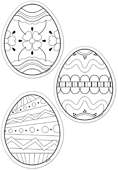 Colour-Me Easter Eggs - Arts & Crafts
