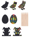 Scratch Art: Easter Shapes