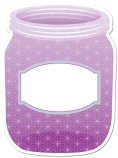 Painted Palette Purple Mason Jars Cut Outs