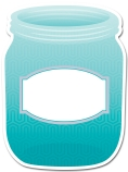 Painted Palette Turquoise Mason Jar Cut Outs
