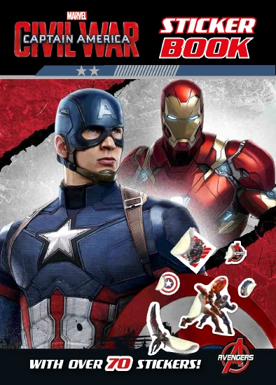 The Store Captain America Civil War Sticker Book Book