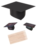 SCRATCH GRADUATION HATS 10PK