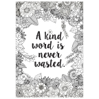 A Kind Word ... Colour-Me Poster