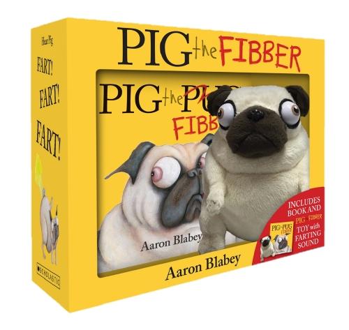 Pig the Fibber Mini Book + Farting Plush