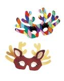 Cardboard Reindeer Masks
