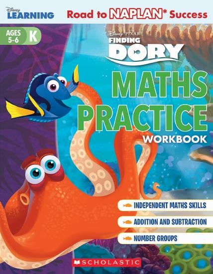 Disney Learning Workbook: Finding Dory Level K Maths Practice
