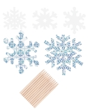 Scratch Sparkly Snowflakes
