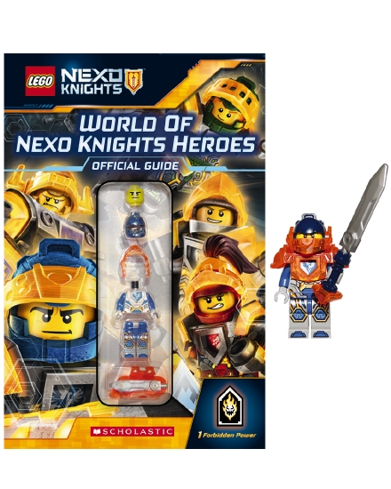 The Store - LEGO World of Nexo Knights Heroes + Figurine - Book
