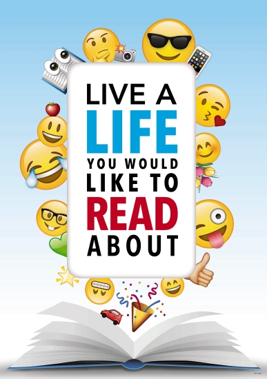 Live a Life You Would Like to Read About Poster                                                      - Teacher Resource