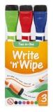 Write 'N Wipe Whiteboard Markers (3 Pack)