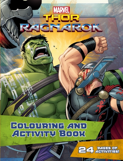 Product Marvel Thor Ragnarok Colouring Activity Book Book