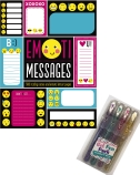 Emoti messages and metallic gel pen pack